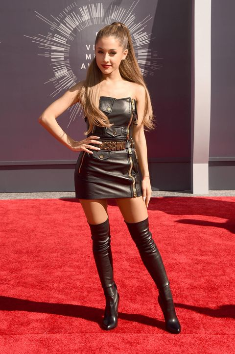 Ariana Grande wears all-leather at the Video Music Awards 2014