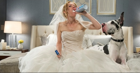 Leslie Mann and dog in The Other Woman