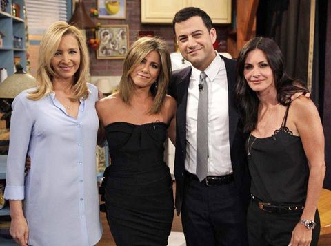 VIDEO: A Friends reunion actually happened on Jimmy Kimmel and we are FREAKING OUT over here