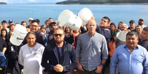 Leonardo DiCaprio's Ice Bucket Challenge is a bit different