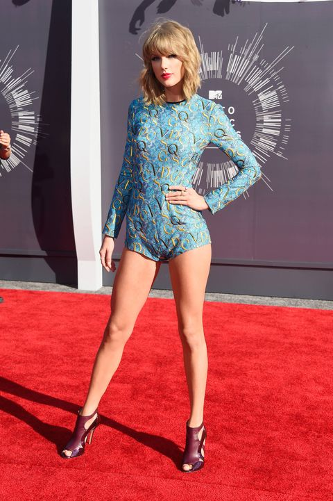 Taylor Swift wowed at the MTV Video Music Awards in a blue one-piece