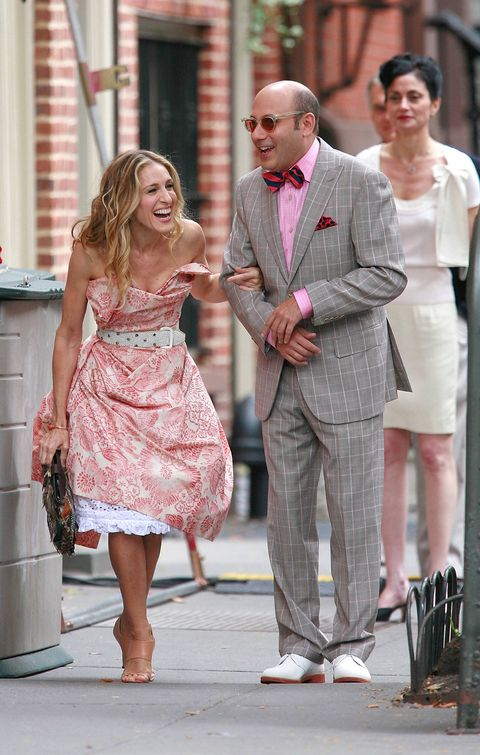 Clothing, Leg, Coat, Trousers, Dress, Shirt, Outerwear, Standing, Pink, Suit,