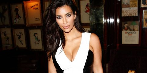 Kim Kardashian looks fab wearing the Kardashian Kollection