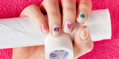 Diy Nail Art How To Do Shapes Using Scotch Tape And Cling Film