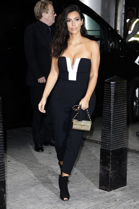 Kim Kardashian West Wears Kardashion Kollection Jumpsuit To Radio