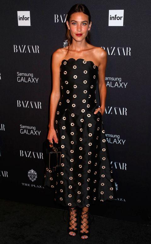 Alexa Chung wearing monochrome