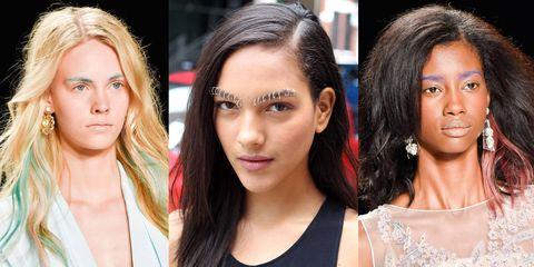Bold eyebrow trend at Badgley Mischka and Rodarte Spring/Summer 2015 New York Fashion Week - new beauty trends - Cosmopolitan.co.uk