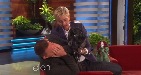 Ellen DeGeneres scares Channing Tatum with china dolls