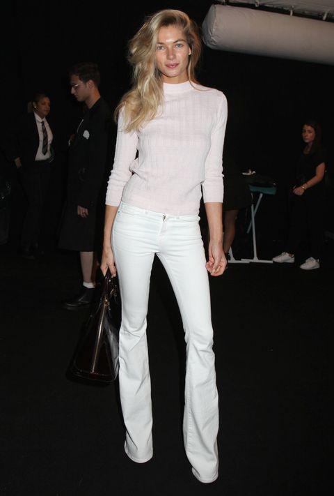 Trousers, Shirt, Outerwear, Style, Bag, Fashion, Blazer, Street fashion, Blond, Fashion model,