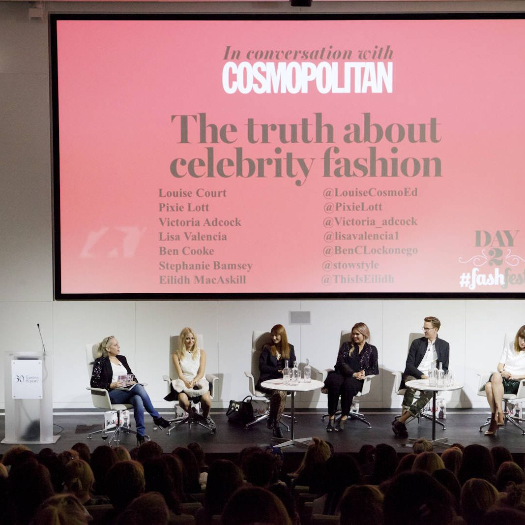 Pixie Lott, Lisa Valencia, Ben Cooke, Victoria Adcock, Stephanie Bamsey, Eilidh MacAskill and Cosmo Editor in Chief Louise Court revealed celebrity styling secrets and took questions from the eager crowd...