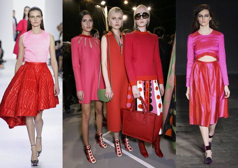 catwalk red and pink