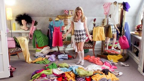 cher clueless clothes storage mess bedroom fashion