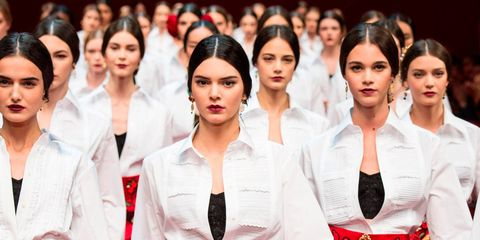 Kendall Jenner leads the pack at Milan Fashion Week Spring 2015