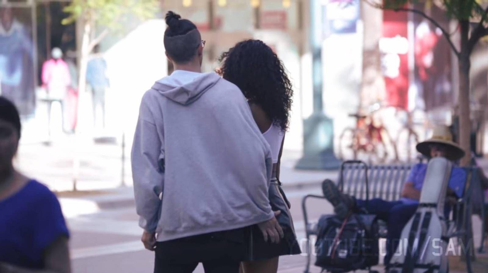 Sexual harassment in public prankster