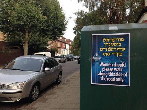 Misogynistic posters taken down by London Council