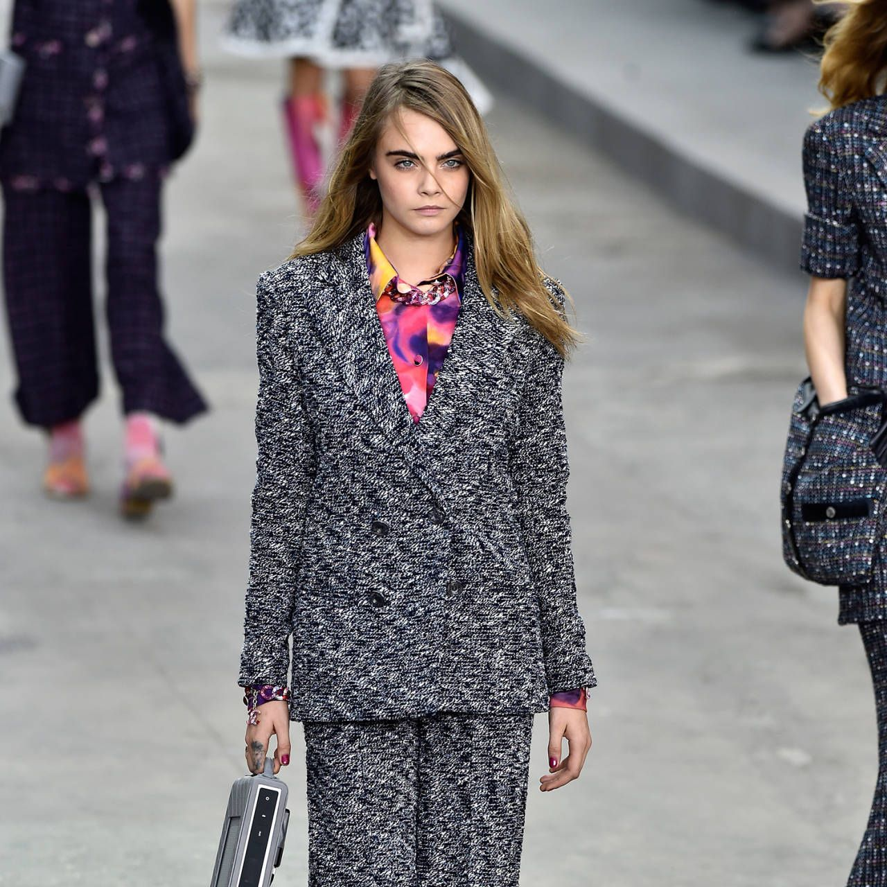 Cara Delevingne Chanel spring 2015 catwalk model Karl Lagerfeld instagram