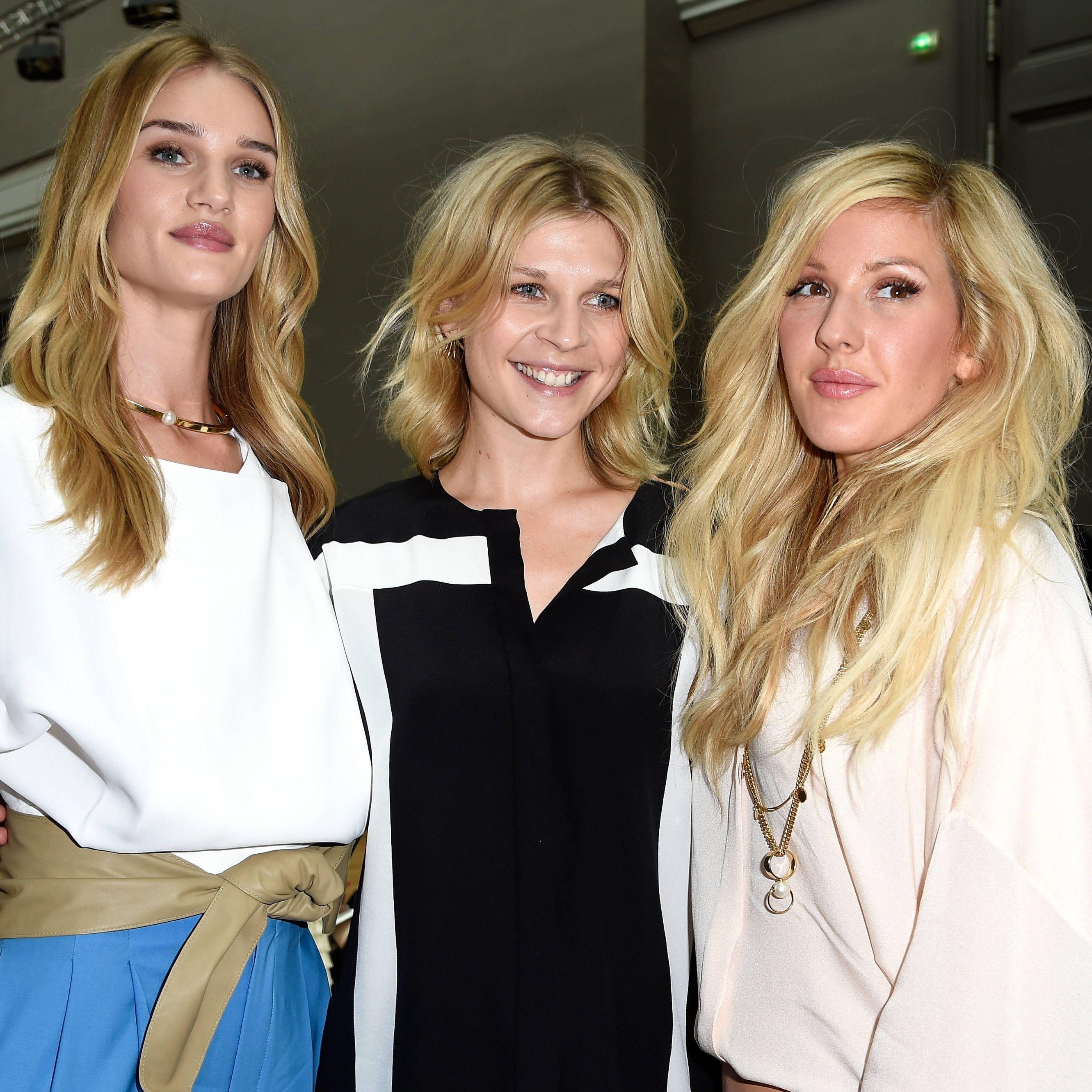 Rosie Huntington-Whiteley, Clemence Poesy, Ellie Goulding at Paris Fashion Week Spring/Summer 2015