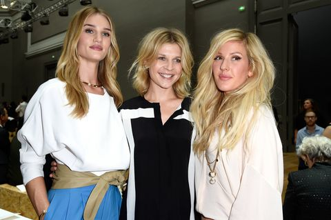 Rosie Huntington-Whiteley, Clemence Poesy, Ellie Goulding at Paris Fashion Week Spring/Summer 2015