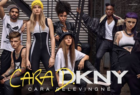 Cara Delevingne x DKNY collection in pictures