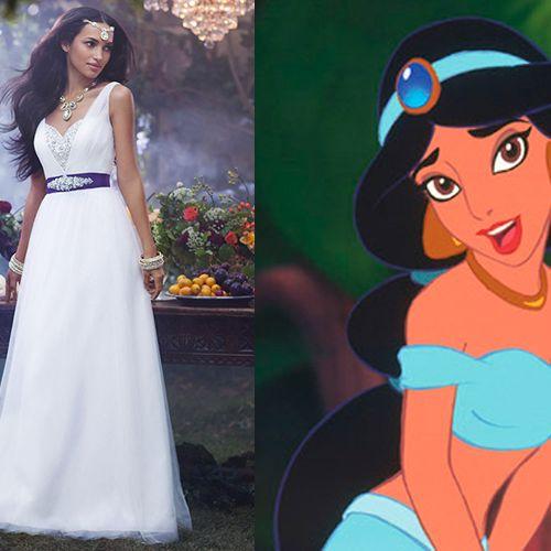 Disney Princess inspired wedding dresses