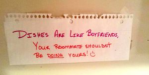 passive aggressive housemate notes