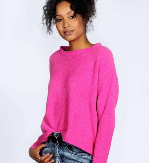 Lora crew neck soft knit jumper, £15, Boohoo