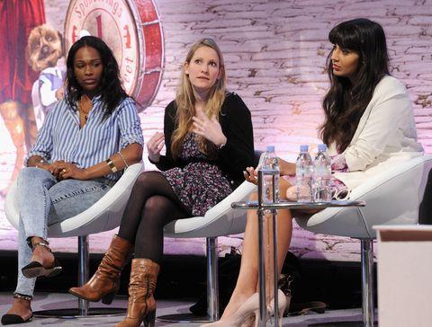 Laura Bates, Jameela Jamil and Sharmadean Read at Cosmopolitan talk