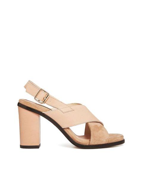 "<a href=""http://www.whistles.com/women/shoes/sandals/eva-crossover-block-heel.html?dwvar_eva-crossover-block-heel_color=NUDE#start=1"" target=""_blank"">Eva Crossover Block Heel, £60 reduced from £155, Whistles</a>"