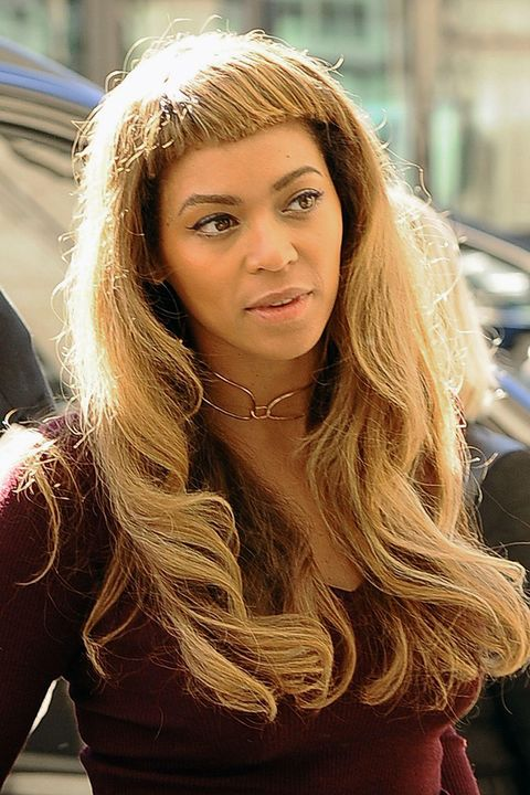 Beyonces New Blunt Fringe Pictures