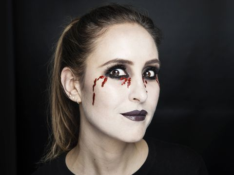 bleeding eyes halloween makeup tutorial  stepstep