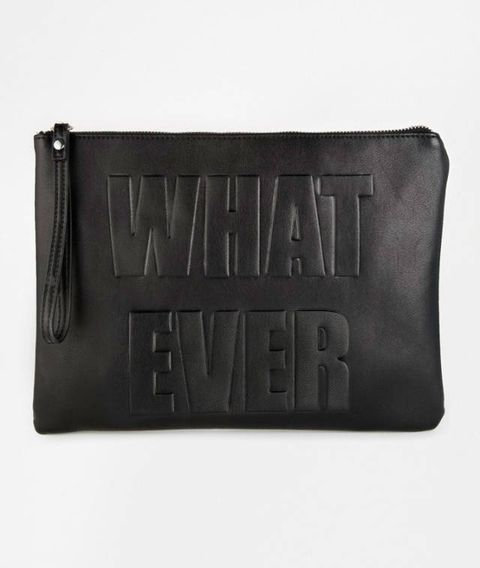 "<a href=""http://www.asos.com/New-Look/New-Look-Whatever-Clutch-Bag/Prod/pgeproduct.aspx?iid=4448450&cid=11305&sh=0&pge=0&pgesize=204&sort=-1&clr=Black&totalstyles=241&gridsize=4"" target=""_blank"">Whatever Clutch Bag, £12.99, New Look</a>"