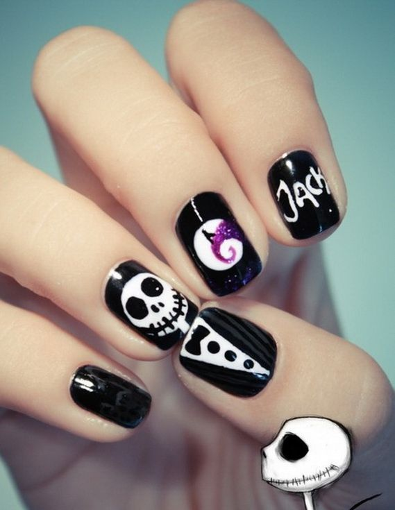 25 halloween nail art designs cool halloween nails for 2017 - Halloween Easy Nail Art