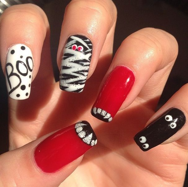 25 halloween nail art designs cool halloween nails for 2017 prinsesfo Images