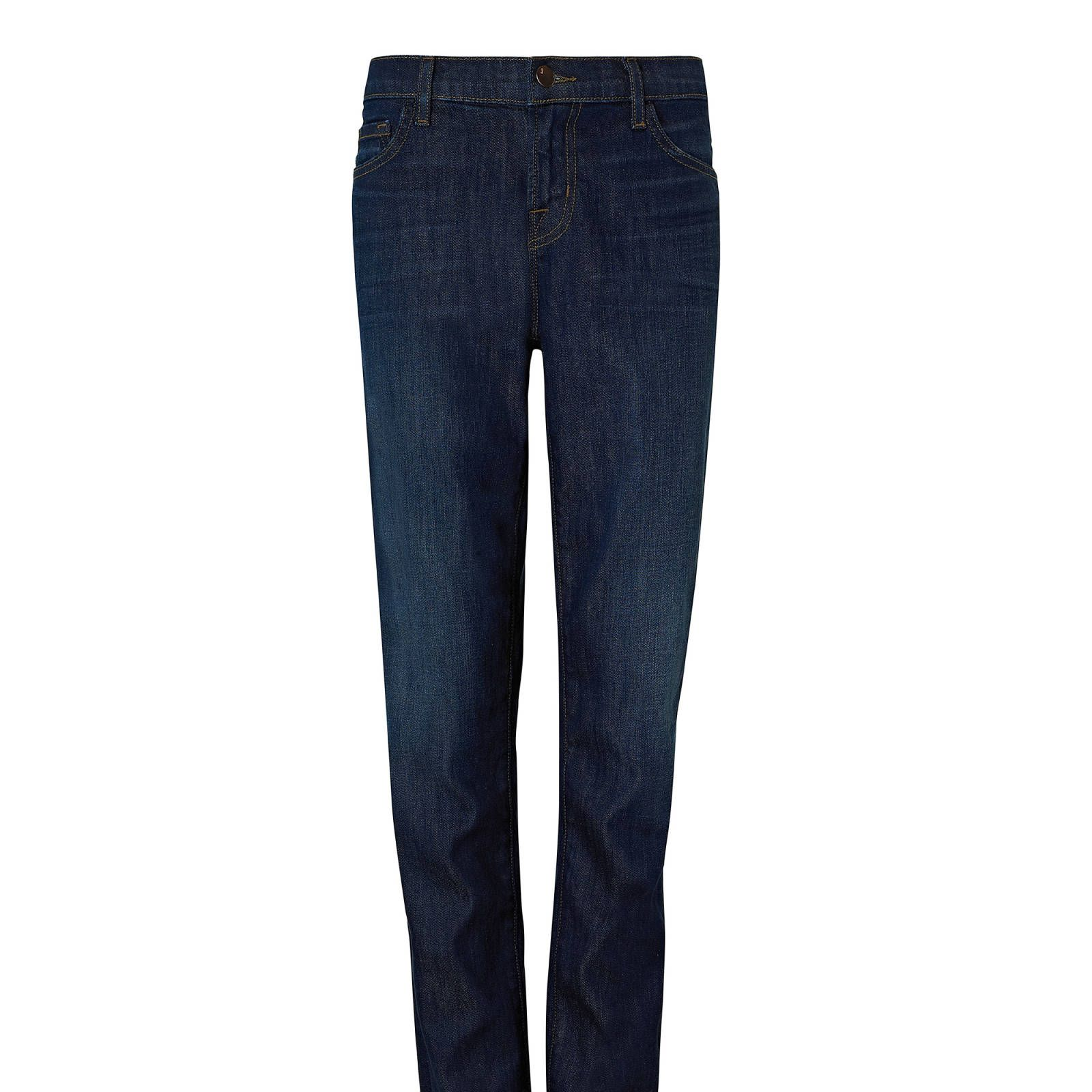 Don't be afraid of the boyfriend jean, just opt for something with a little more structure to pull of the trend.