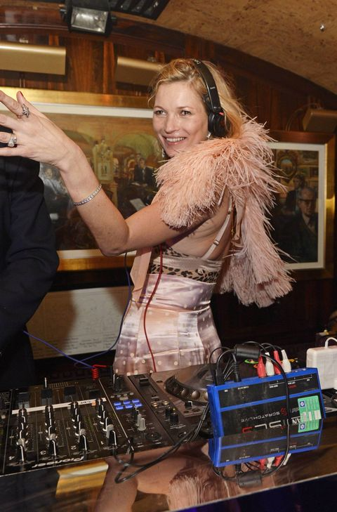 Kate Moss at Annabel's last night