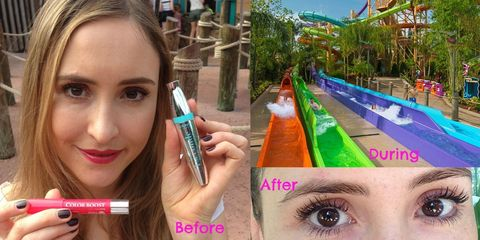 Bourjois waterproof makeup tested on extreme water rides
