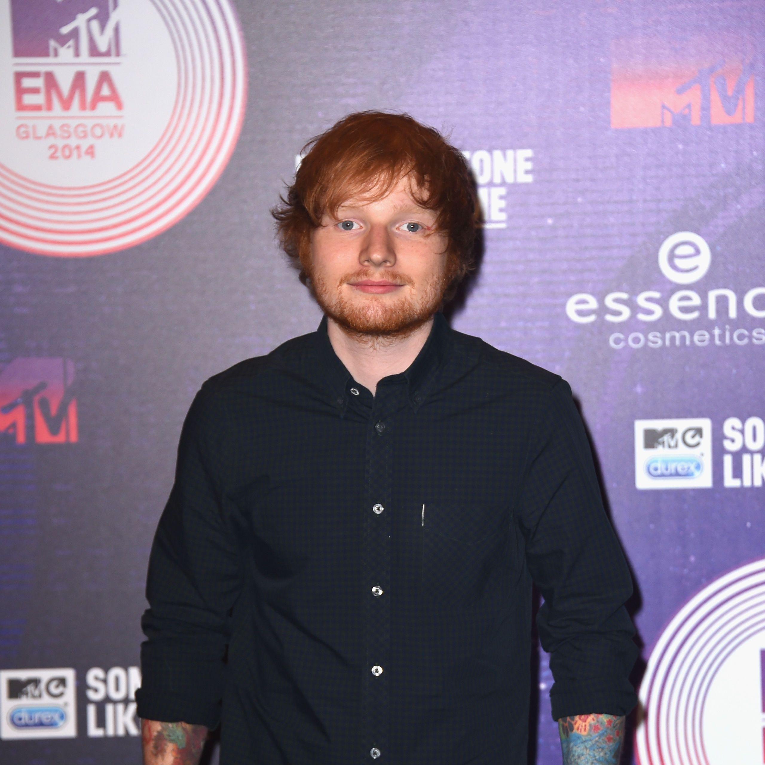 Ed Sheeran at MTV EMAs 2914