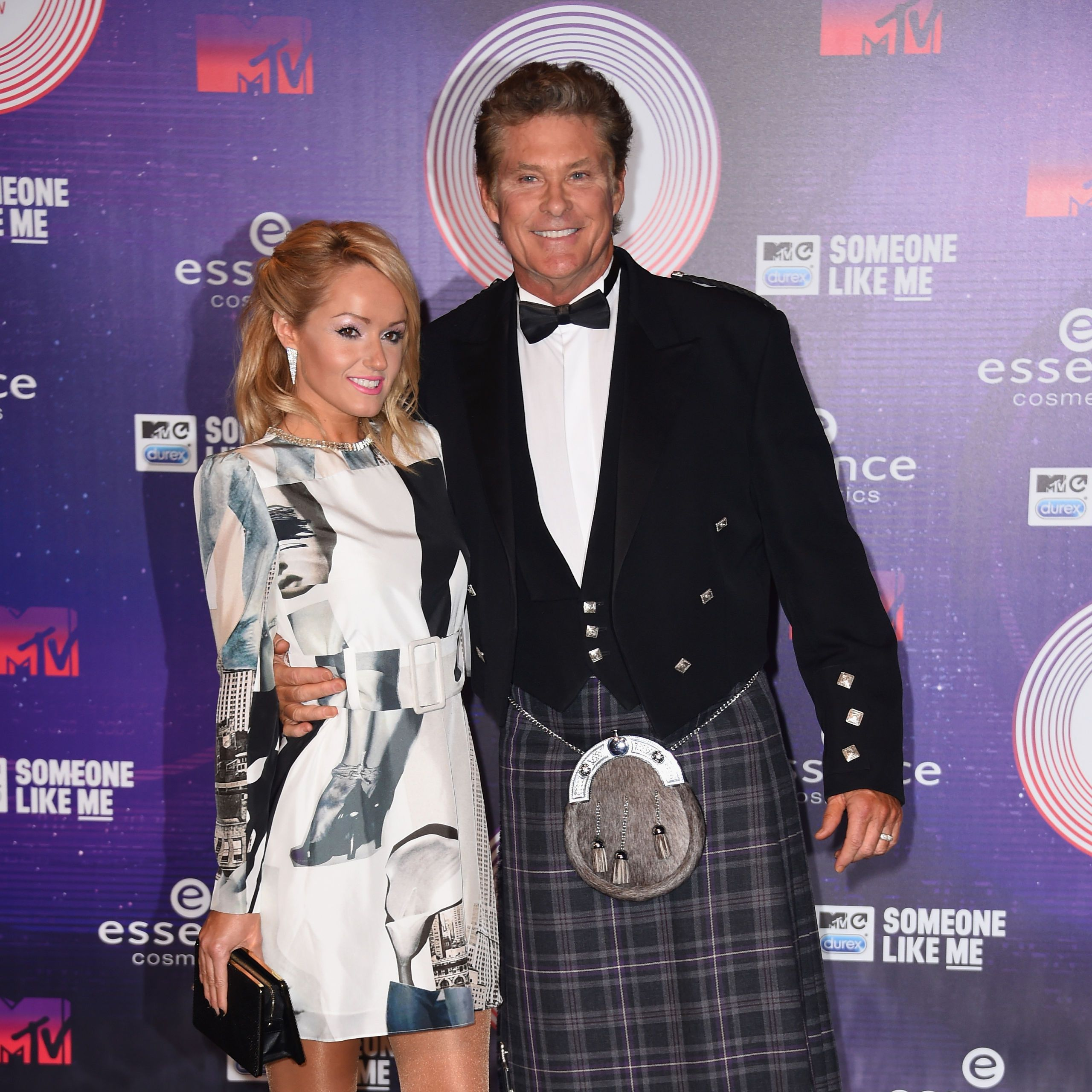 Davod Hasselhoff and Hayley Roberts at MTV EMA 2014