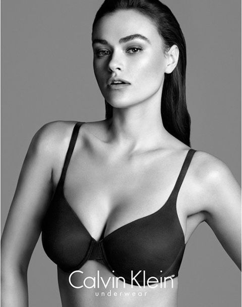 babc0cafe6ad9 Calvin Klein model Myla Dalbesio sparks a discussion about why  normal   sized models aren