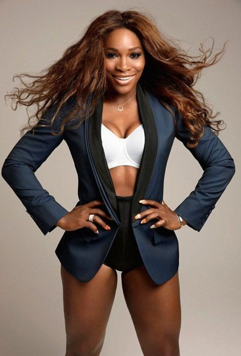 bf6ad661f4 Serena Williams looks strong
