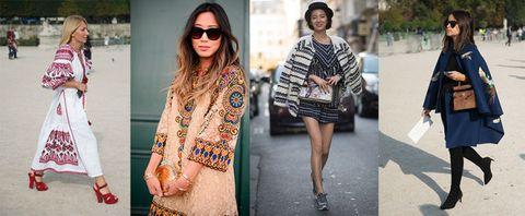 Folk Bohemian Street Style Paris Fashion Week How To Wear