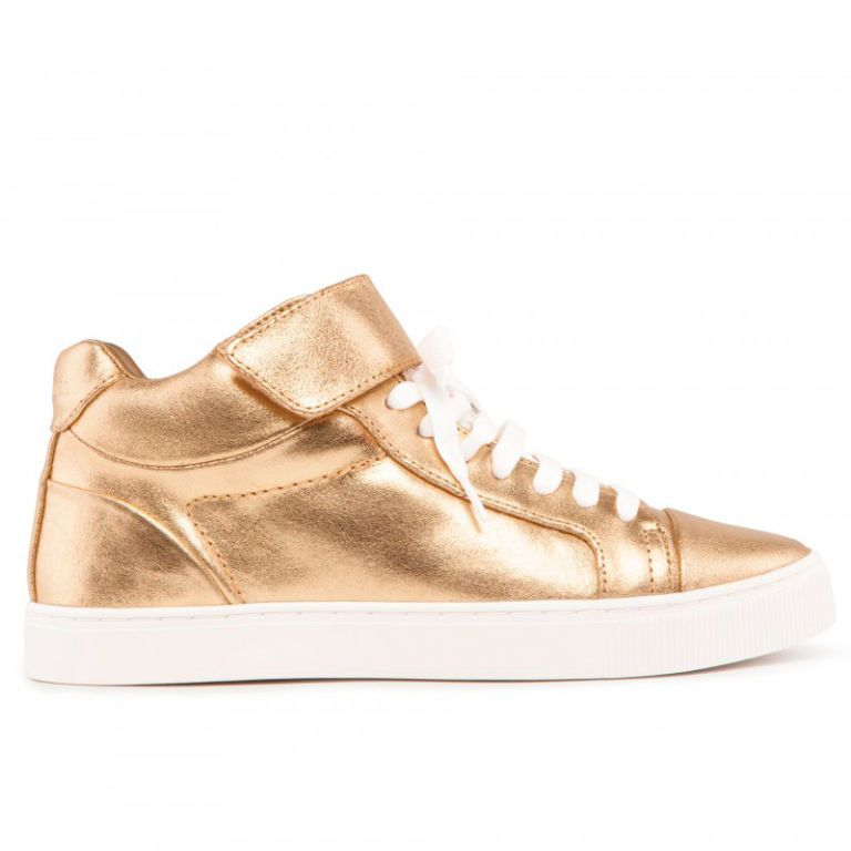 """<p>These Bimba Y Lola golden trainers are the easy way to lift an outfit from boring to festive in next to no time. </p><i><a href=""""http://www.baileys.com/en-gb/home.html"""" target=""""_blank"""">Find out more about Baileys Chocolat Luxe Limited Edition bottle</a></i></p>"""