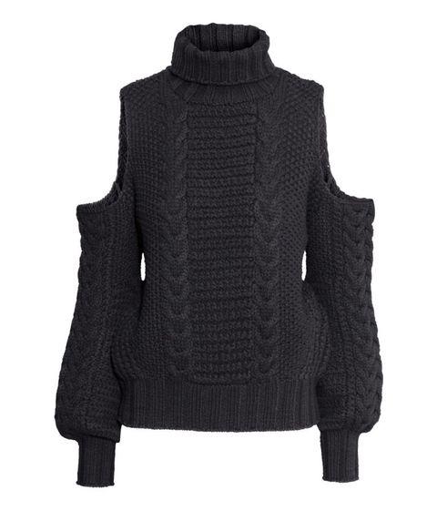 Product, Sweater, Sleeve, Textile, Outerwear, Coat, Wool, Woolen, Pattern, Black,
