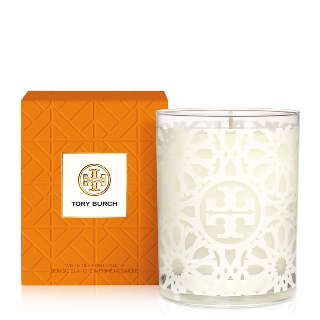 Tory Burch White Tile-Print Candle, £38 harrods.com review