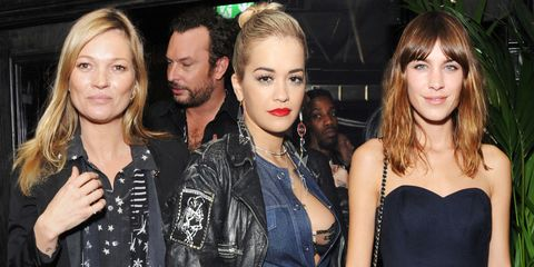 Battle of the rock chicks: Moss, Ora and Chung at London launch party