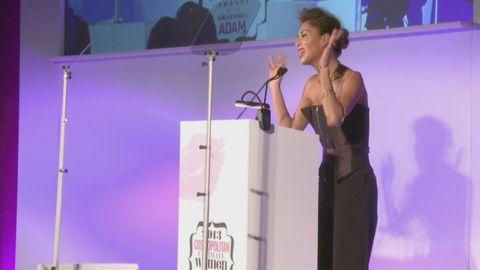 Nicole Scherzinger sings to Nelson Mandela at the Ultimate Women Awards 2013