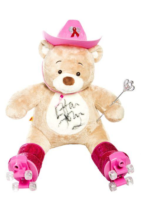 Stuffed toy, Toy, Pink, Teddy bear, Magenta, Baby toys, Plush, Costume accessory, Bear, Beige,