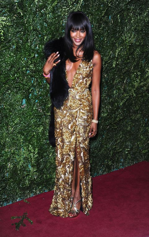 Naomi Campbell at the London Evening Standard Theatre Awards