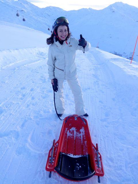 Sophie Goddard on the slopes