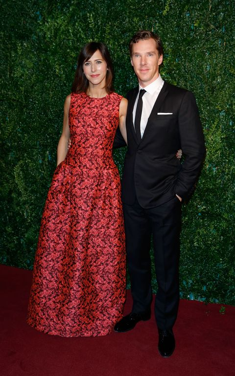 Benedict Cumberbatch and Sophie Hunter at the London Evening Standard Theatre Awards